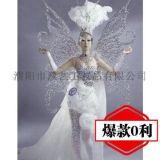 維多利亞天使翅膀/水晶蝴蝶天使翅膀道具/天使翅膀背景牆壁飾掛飾