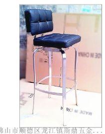 高脚时尚吧台椅/S009创意不锈钢吧椅定制/家居时尚PU休闲椅