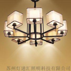中式酒店吊灯_新中式酒店吊灯_现代中式吊灯【灯迷汇照明】