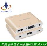 伟星 苹果安卓转hdmi+vga+av多功能转换器