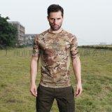 酋长户外休闲短袖运动迷彩短袖战术圆领透气T恤