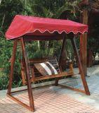 户外实木秋千 钢木吊椅