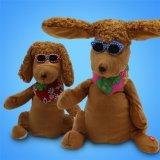 厂家定制 毛绒玩具电动毛绒拍耳朵狗音乐拍耳朵兔子跳舞狗加工
