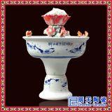 供應景德鎮青花瓷噴泉加溼器 手繪陶瓷噴泉定做