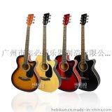 供应PT-411-DM/41寸全椴木缺角民谣吉他 化红色RDS 和必括乐器