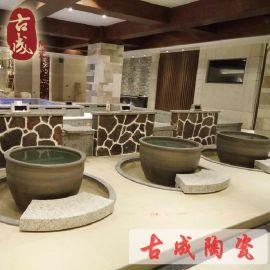温泉浴场专用陶瓷泡澡缸 日式陶瓷泡澡缸 厂家直销