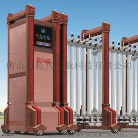 高档铝合金电动伸缩门电动门自动遥控门学校工厂小区大门