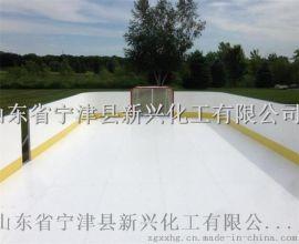 冰球场围栏挡板采用PE板 效果佳