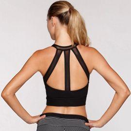 跨境专供无钢圈运动文胸高强度支撑瑜伽美背内衣防震背心速卖通款