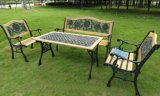 供应铸铁脚花园椅,户外休闲桌椅,铸铁公园椅
