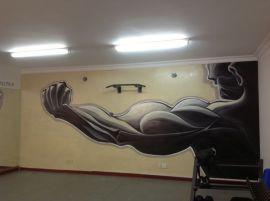 南京栖霞区健身馆画墙绘JSG-2 墙绘价格面议