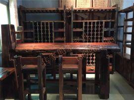 船木家具吧台,船木红坤独厚板吧台现货