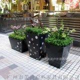 商业广场玻璃钢组合花箱