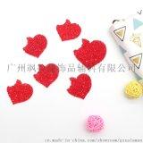 創意大紅色樹脂愛心燙鑽 服裝心形飾品配件