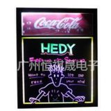 LED荧光板 荧光黑板 促销 电子 发光写字板53*95一体式荧光板