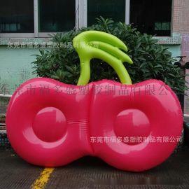 厂家福多盛订做各类环保PVC充气浮排 充气樱桃浮排 夏日休闲水上玩具