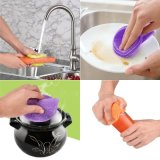 硅膠海綿食品級防黴硅膠洗碗洗滌鍋,鍋,碗,水果和蔬菜