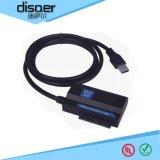 迪萨尔USB 3.0转SATA 3.0转接线 1.27米电源线