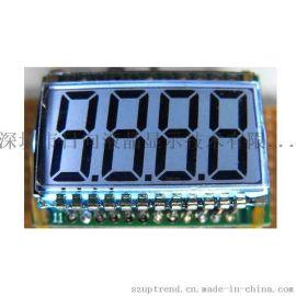 4个8字TN/HTN/STN/FSTN型笔段LCD液晶显示屏