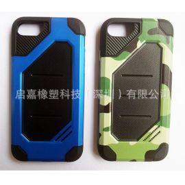 廠家直銷蘋果、三星、華爲、小米手機套PC+TPU迷彩紋單色迷彩豹紋手機