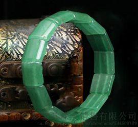 郑州五皇一后珠宝供应天然东陵玉圆形绿手串
