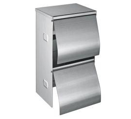 不鏽鋼上下雙卷紙巾架、同時放兩卷紙的廁紙盒