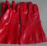 厂家直销 PVC防护劳保手套 防水防晒手套 工业作业浸塑手套批发