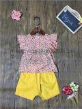 品牌童装尾货夏季新款英伦纯色卡通七分打底裤一件代发