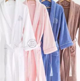 五星级酒店纯棉成人男女士浴袍睡衣