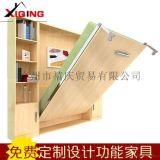 创意家具多功能隐形床壁床单人简易办公室午休床折叠床书柜墨菲床