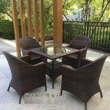 商业街编藤桌椅|珠海咖啡厅户外桌椅舒适大方