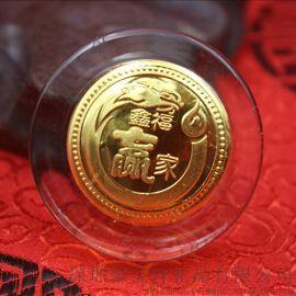 水晶鑲金幣 金雞送福等保險公司 商務活動銀行禮品