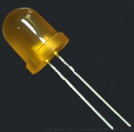 8mm圆头橙灯短脚直插LED灯珠