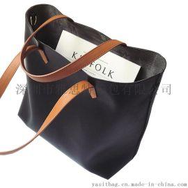PU手提袋定制新款女士託特包防水單肩包生產廠家