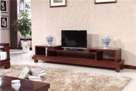 别墅客厅实木电视柜环保油漆电视柜高档实木家具