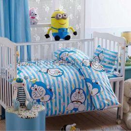 小鸡**幼儿园被子三件套 全棉儿童被褥 卡通纯棉被套宝宝午睡婴儿床六件套