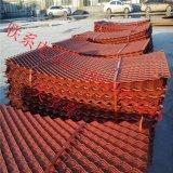现货菱型钢板网片红色涂漆建筑菱形拉伸网钢芭片
