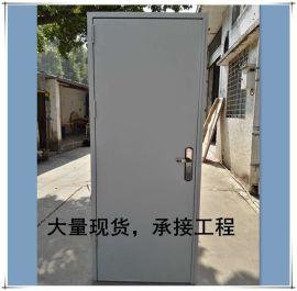 广东直销供应钢质门单开现货防火门浅灰色门
