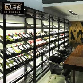 不锈钢酒架定制 酒架现代简约红酒架恒温酒柜葡萄酒架 红酒展示架