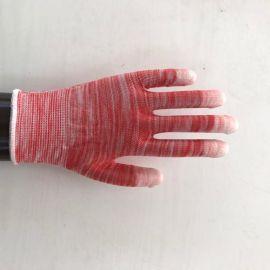 低价清仓 多色PU白色涂指劳保手套 PU浸指手套