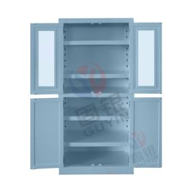 固銀pp藥品櫃 四門試劑櫃 器皿櫃 耐酸鹼櫃 腐蝕性 廠家直銷