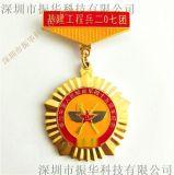 新款立体老兵聚会勋章定做纯铜奖章参军纪念章