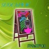 索彩WJ0943 深圳荧光屏电子荧光板广告板发光黑板/双面荧光板