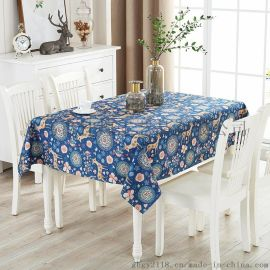 批发田园棉麻桌布布艺防尘布小圆桌长方形餐桌布盖布茶几盖巾台布