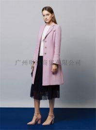 雙面羊絨大衣品牌女裝折扣店批發找廣州明浩