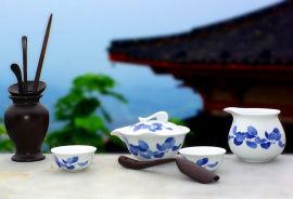 銀銀瓷器醴陵釉下五彩瓷茶具套裝家用陶瓷辦公室茶具商務禮品定制