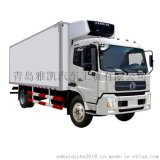 东风6.8米冷藏车报价,东风天锦180马力前2后4冷藏车价格,蔬菜水果冷链运输车