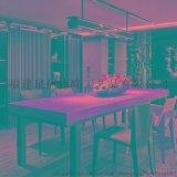 厂家直销订制批发长方形复古桌星巴克餐饮家用餐桌美式实木餐桌椅桌椅组合