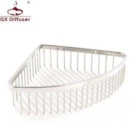 304不鏽鋼轉角三角置物架 創意三角網籃衛生間浴室角架 廠家直銷