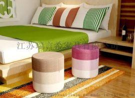 实木彩色时尚创意小圆凳 简约迷你家用换鞋凳